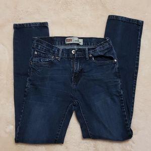 LEVI'S Super Skinny High Rise Dark Wash Jeans